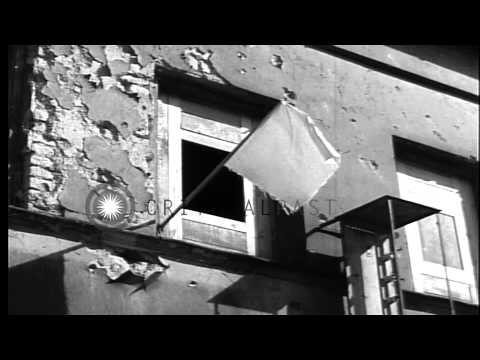 Bomb damaged, Adolf Hitler's Berghof residence in Berchtesgaden Germany, at end o...HD Stock Footage