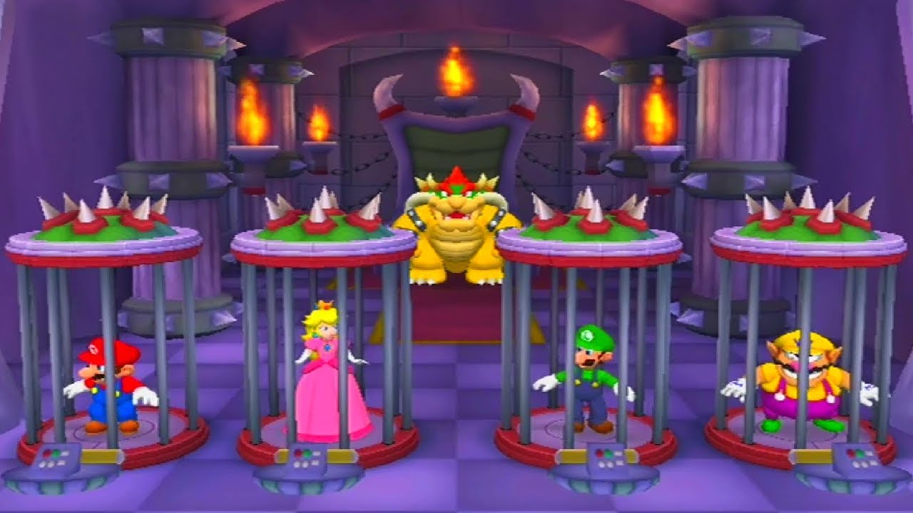 Mario Party 5 - All Bowser Minigames