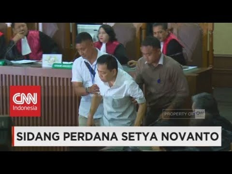 Ling - Lung Setnov Saat Ditanya Hakim Tipikor, Pengadilan Perdana Setya Novanto Kasus Korupsi EKTP