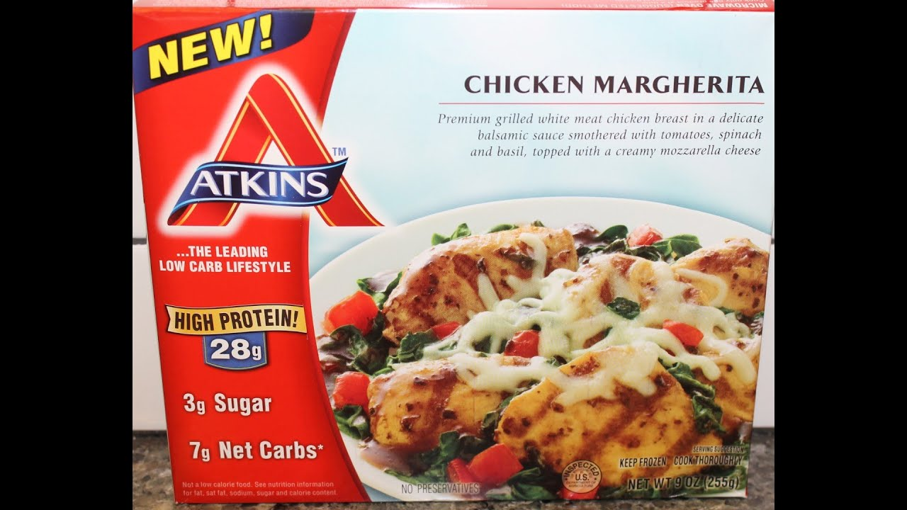 Atkins: Chicken Margherita Review - YouTube
