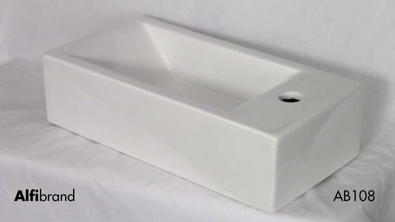 Small Modern Bathroom Sink Wall Mounted Alfi Brand