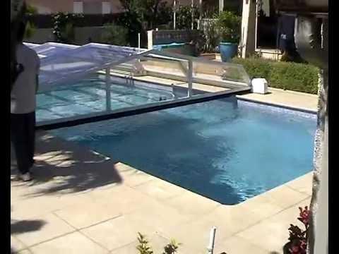 motorisation abri piscine totale youtube. Black Bedroom Furniture Sets. Home Design Ideas