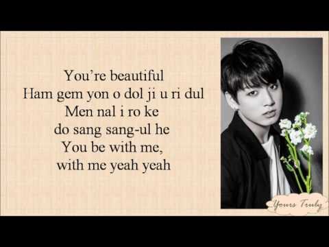 BTS (방탄소년단) (Jungkook, V, Jimin, Jhope) - BEAUTIFUL [Easy Lyrics]