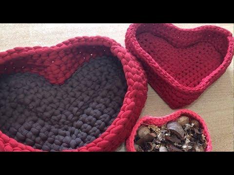 Tuto Panier Coeur Au Crochet