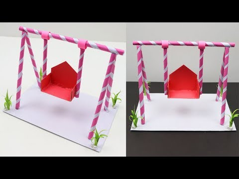 How to Make Easy Paper Swing - DIY Beautiful Jhula Swing Made out of Paper - Simple Paper Jhula
