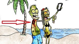 """50+ Hilariously Funny """"Zombie""""  Comics To Make You Laugh."""