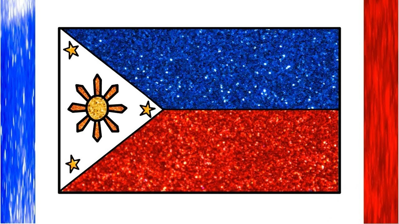 Draw philippine flag glitter philippines national flag drawing color glitter little channel - Philippine flag images ...