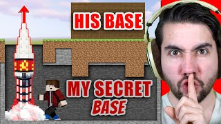 I Secretly Built A Functional Rocket Under Someones Base | Minecraft Home Invaders