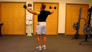 Download Video Standing Dumbbell Lateral for Toned, Massive Shoulders and Rear Deltoids MP3 3GP MP4