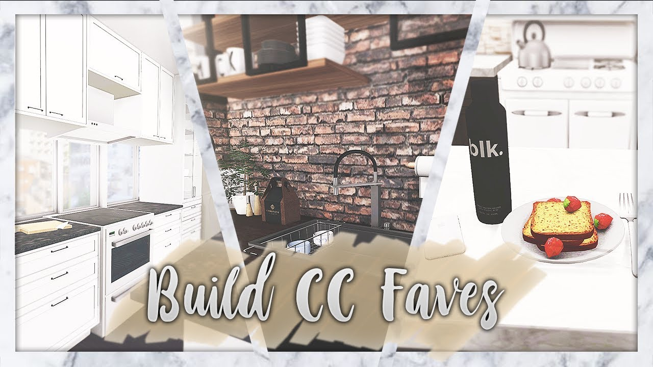 The Sims 4: Build CC Faves // Kitchens + CC LIST - YouTube