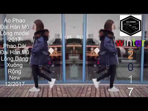 [FS-HG]2017 #1 Xu Hướng Áo Phao Nữ đại Hàn Lông Vũ-dáng Dài Thùng-mũ Lông Style 2018