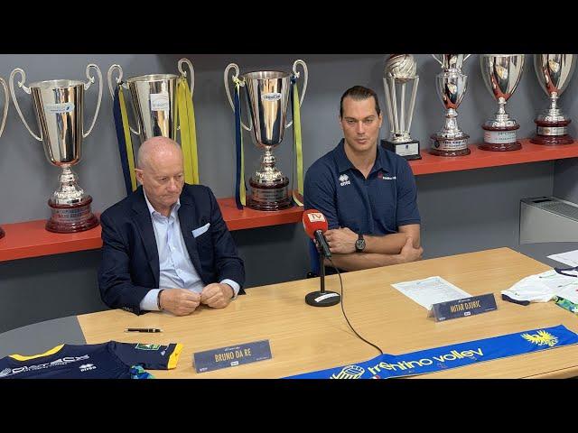 La conferenza stampa di presentazione di Mitar Djuric