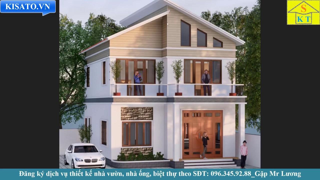 Mẫu Biệt Thự 2 Tầng Đẹp 3 Phòng Ngủ 160m2 Tại Phú Thọ