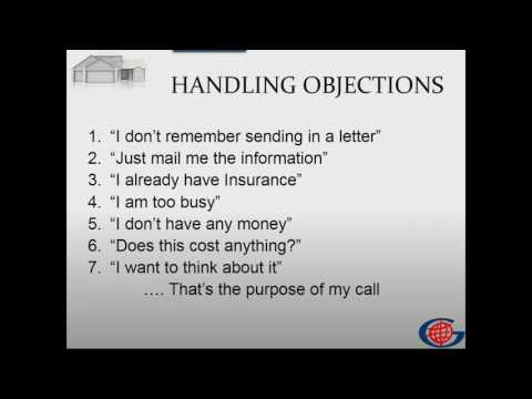 05/08/2017 Mortgage Protection Program/Overcoming Objections -Part 2