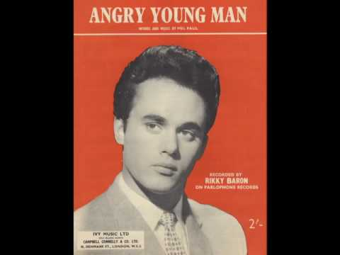 RIKKY BARON - Angry Young Man - PARLOPHONE R4706 1960 - UK Teen Rocker Rock & Roll