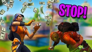 MAKING IT RAIN V-BUCKS! | Fortnite Battle Royale