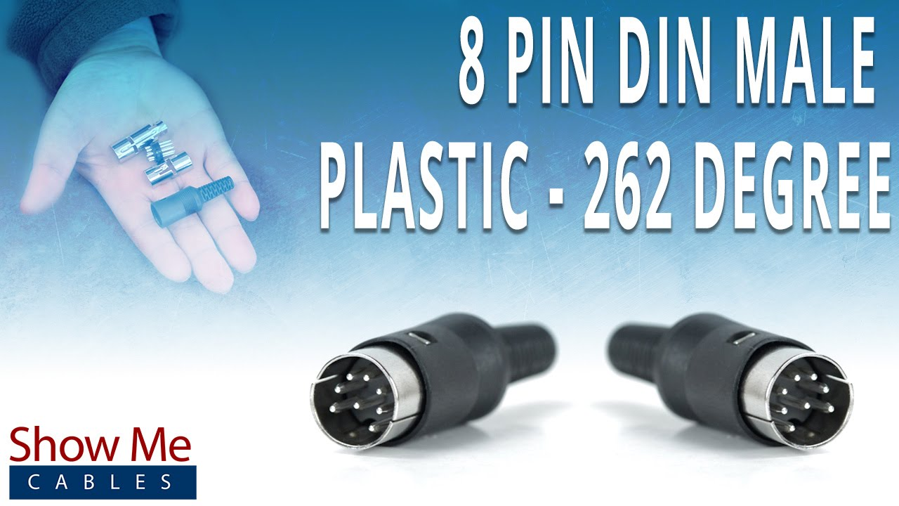 hight resolution of how to install the 8 pin din male connector 262 degree style 9 pin din connector pinout diagram 8 pin din connector wiring diagram bosch