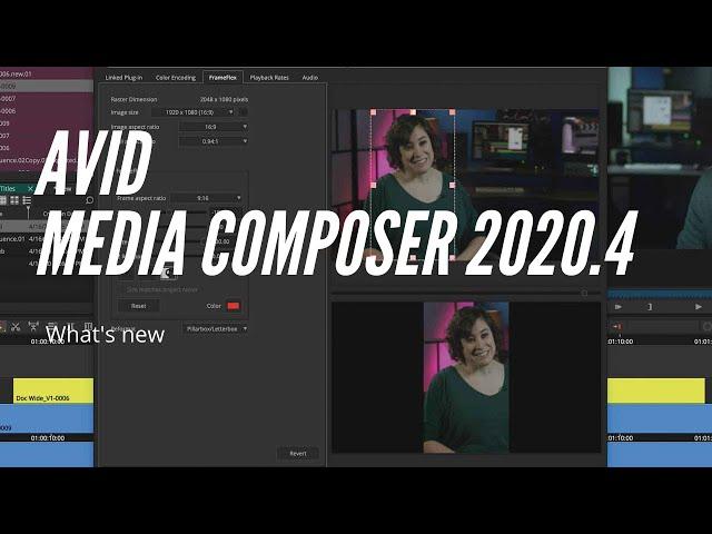 La nuova versione Avid Media Composer 2020.4
