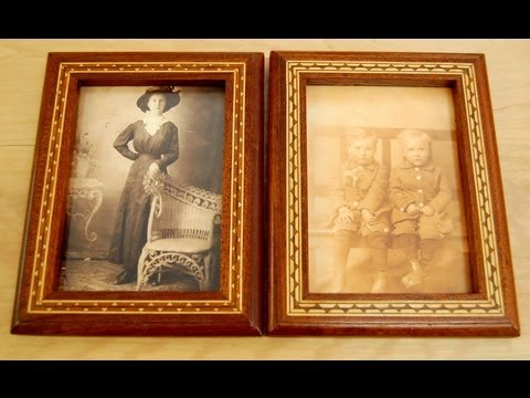 woodworking projects how to make a custom picture frame with wood inlay banding