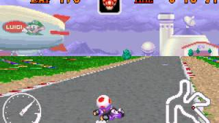 Mario Kart - Super Circuit - Luigi Circuit shortcut - User video