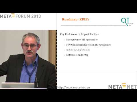 Josef van Genabith: Towards QT21, a European Translation Quality Initiative. META-FORUM 2013