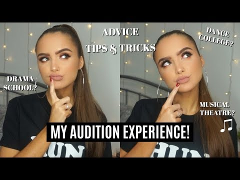 My AUDITION Experience For DRAMA SCHOOL/DANCE COLLEGE (3 YR 'UNI' COURSE) | Adina May