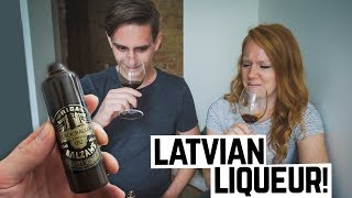 Tasting Latvian Liqueur Huge Central Market in Riga