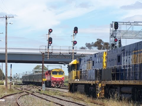 Standard Gauge Freight Trains North of Melbourne 2013