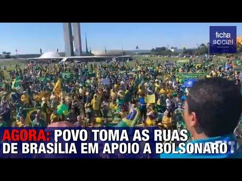 AGORA: POVO TOMA AS RUAS DE BRASÍLIA EM APOIO AO PRESIDENTE ...