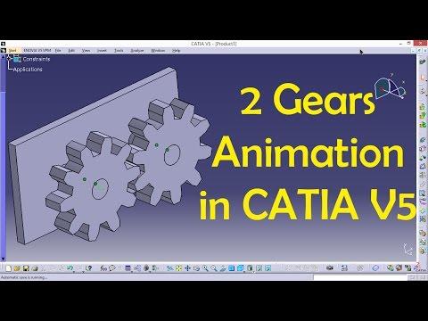2 Gears Animation in CATIA   CATIA V5 Tutorial   Engineer AutoCAD