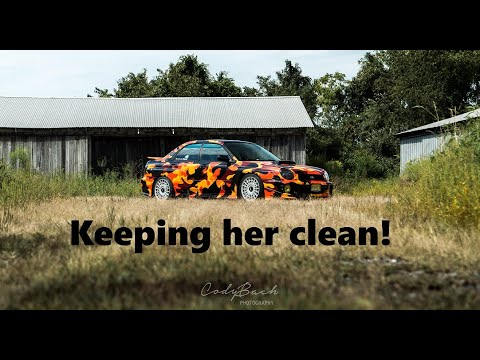 How to clean a vinyl wrapped car!