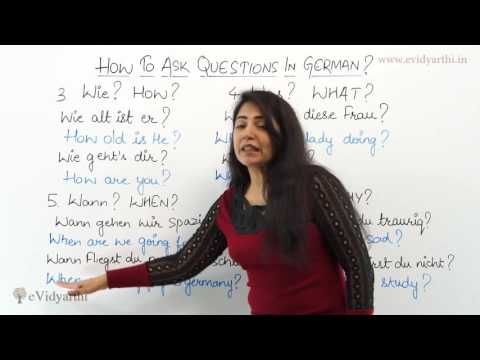 How to Ask Questions in German - German Language Videos