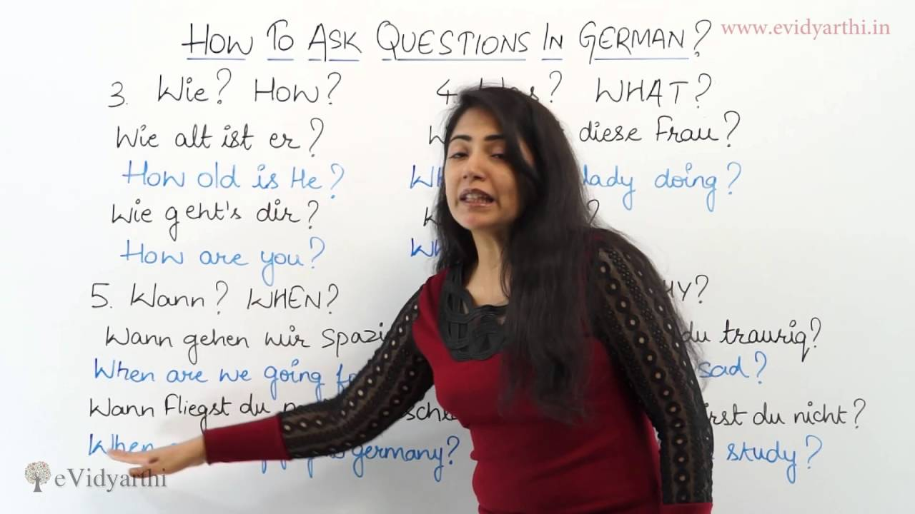 How to Ask Questions in German   German Language Videos