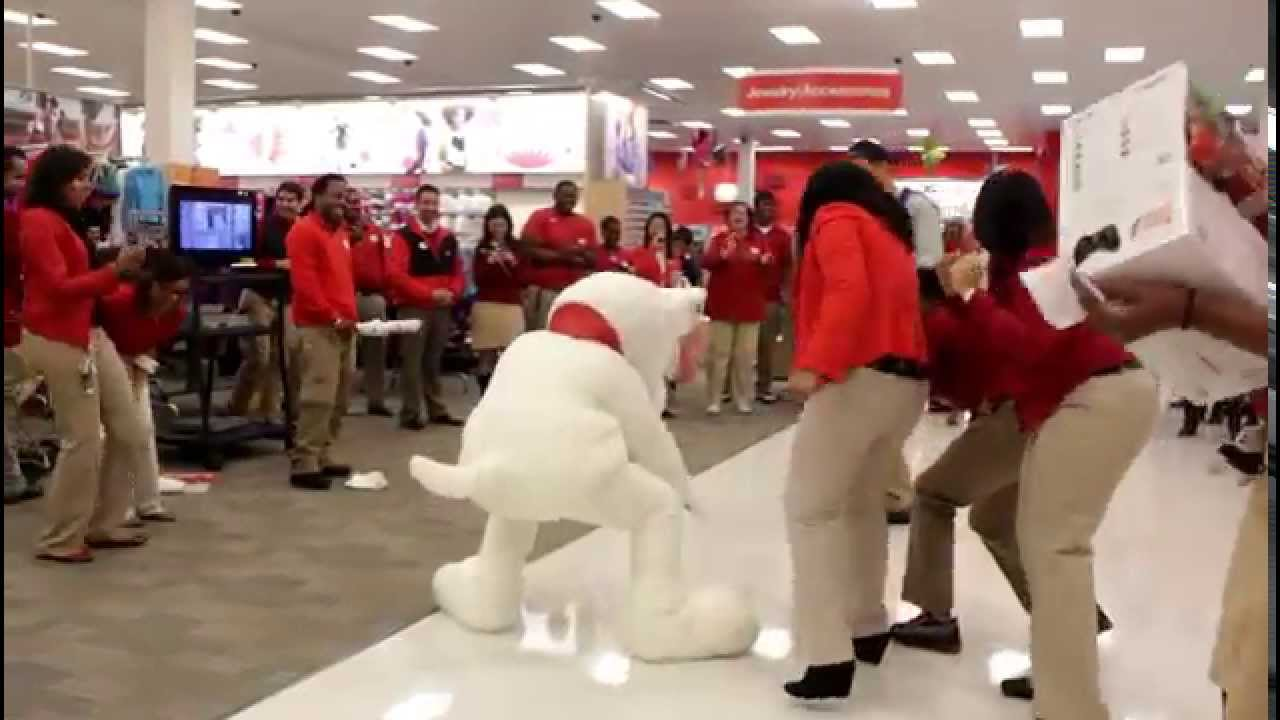 Target mascot cha cha slide with dj takeova youtube What kind of dog is the target mascot