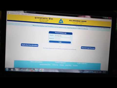 Online Banking Registration in Allahabad Bank