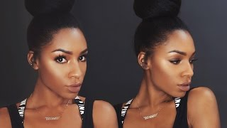 Fall Makeup Series: Bronze Eyes and Glowy Skin ▸ VICKYLOGAN
