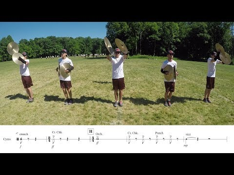 2018 Madison Scouts Cymbals - LEARN THE MUSIC to