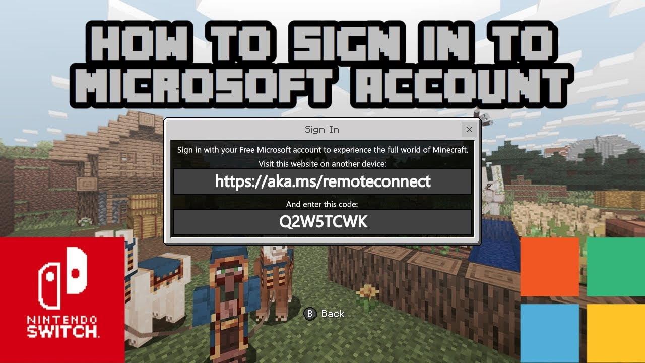 Minecraft: How to Sign In With Your Microsoft Account Nintendo Switch 11
