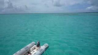 Le magnifique Spot de Spanish Point à Barbuda. Voyage Caraibes 2009.