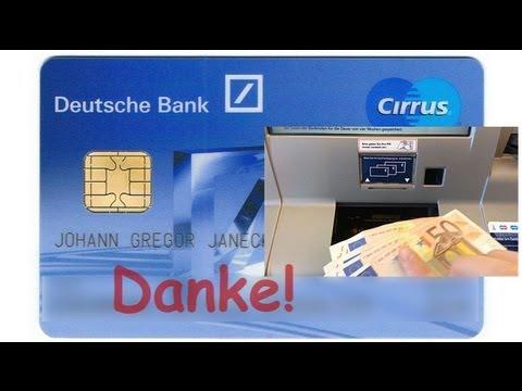 Kostenlos Bareinzahlung Auf Direktbank über Sparcard Youtube