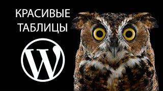 Красивые таблицы в Wordpress