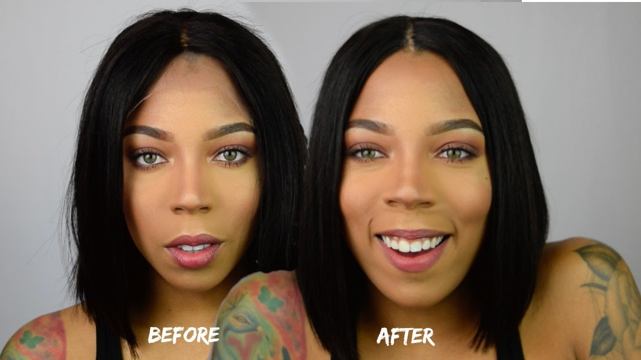 HOW TO APPLY LACE FRONT WIG NO got2b glue 1b2e2b5a8