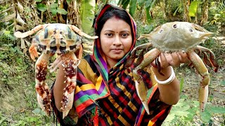 KING CRAB !!! Amazing King Crab Cutting & Cooking Delicious PEPPER CRAB Curry Recipe||Crab Cleaning
