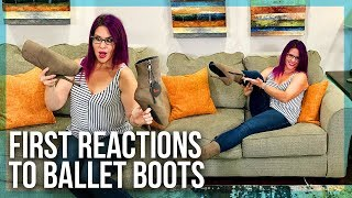 Women React to Locking BALLET BOOT EXTREME HEELS - 7inch (17.78 cm) - REFUSE TO BE USUAL
