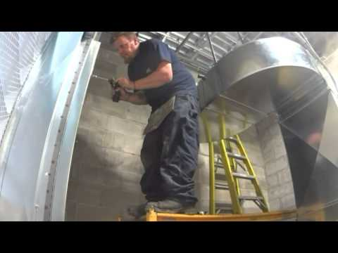 Duct work install for an air compressor #HVAC