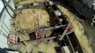 видео Вязка арматуры под фундамент гаража