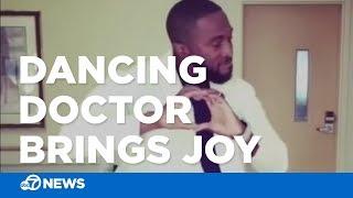 Dancing doctor brings joy to patients
