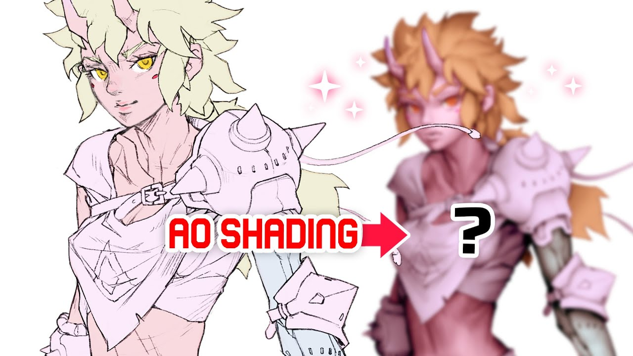 ⚠️ SHADE YOUR DRAWING USING AO, DO IT NOW! (ambient occlusion)