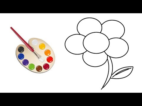 flower-drawing-|-coloring-pages-for-kids-|-picture-coloring-pages-|-drawing-for-kids