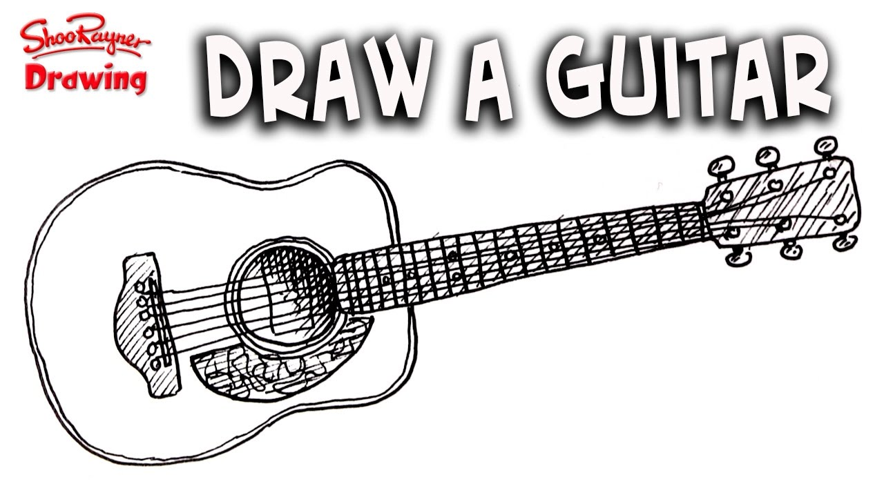 How To Draw A Guitar Easy Step By Step For Beginners Youtube